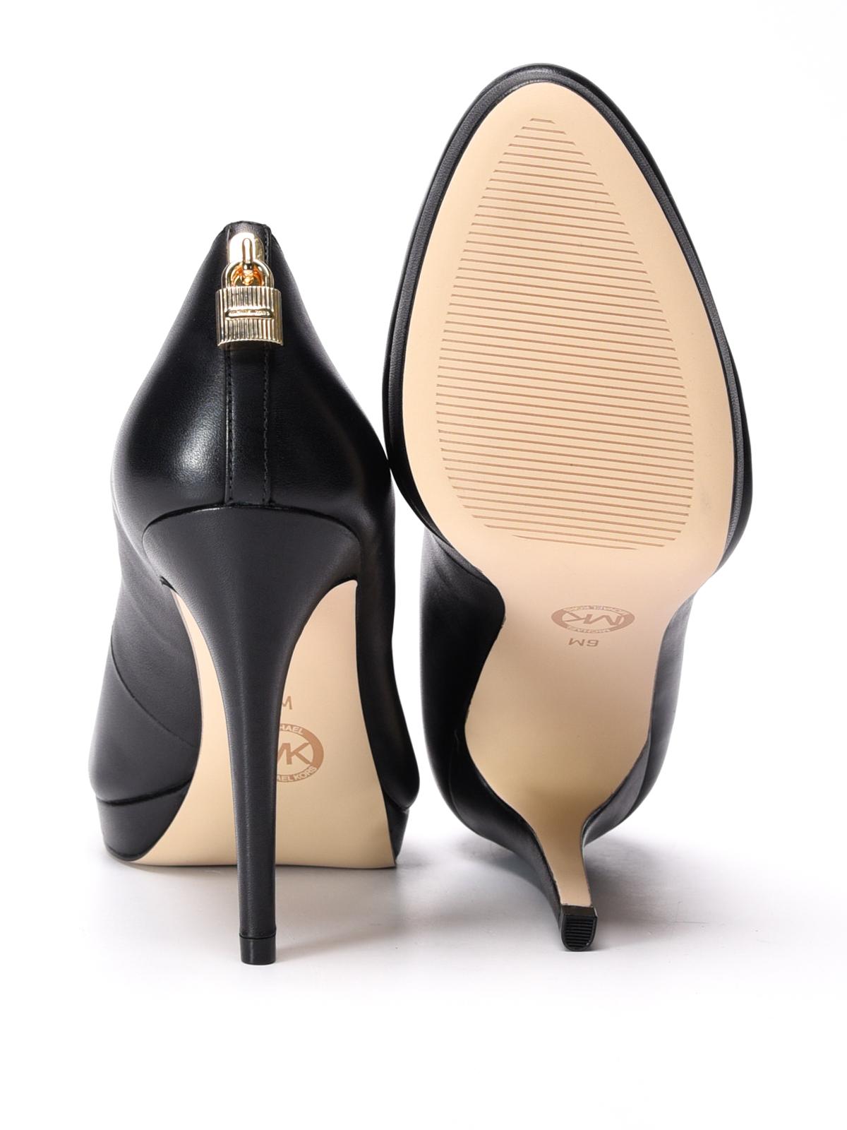 8731e6dadef Michael Kors - Antoinette leather platform pumps - court shoes ...