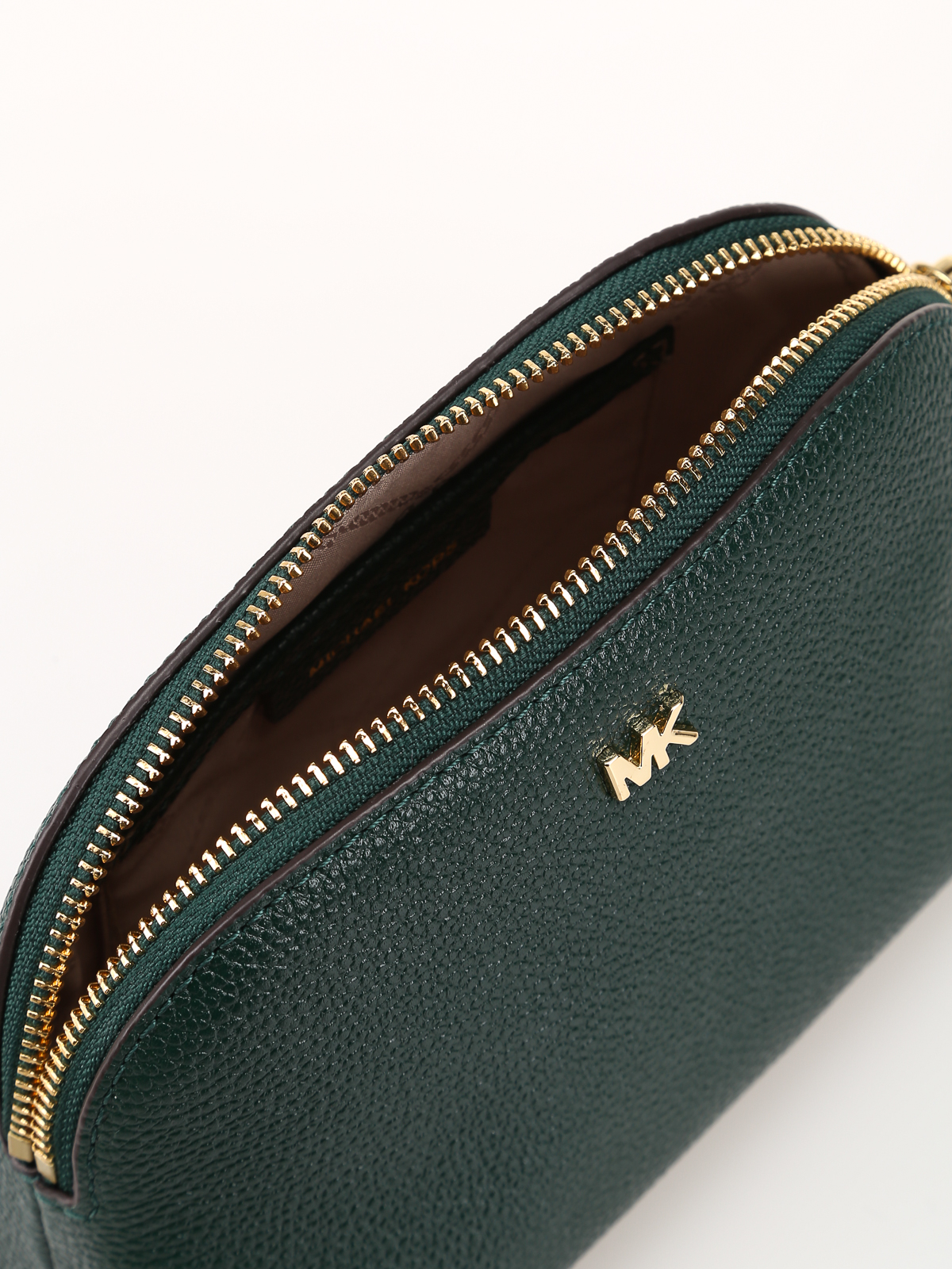 Michael Kors - Green-tone leather Travel Pouch Trio - clutches ... b5346266e9bf8
