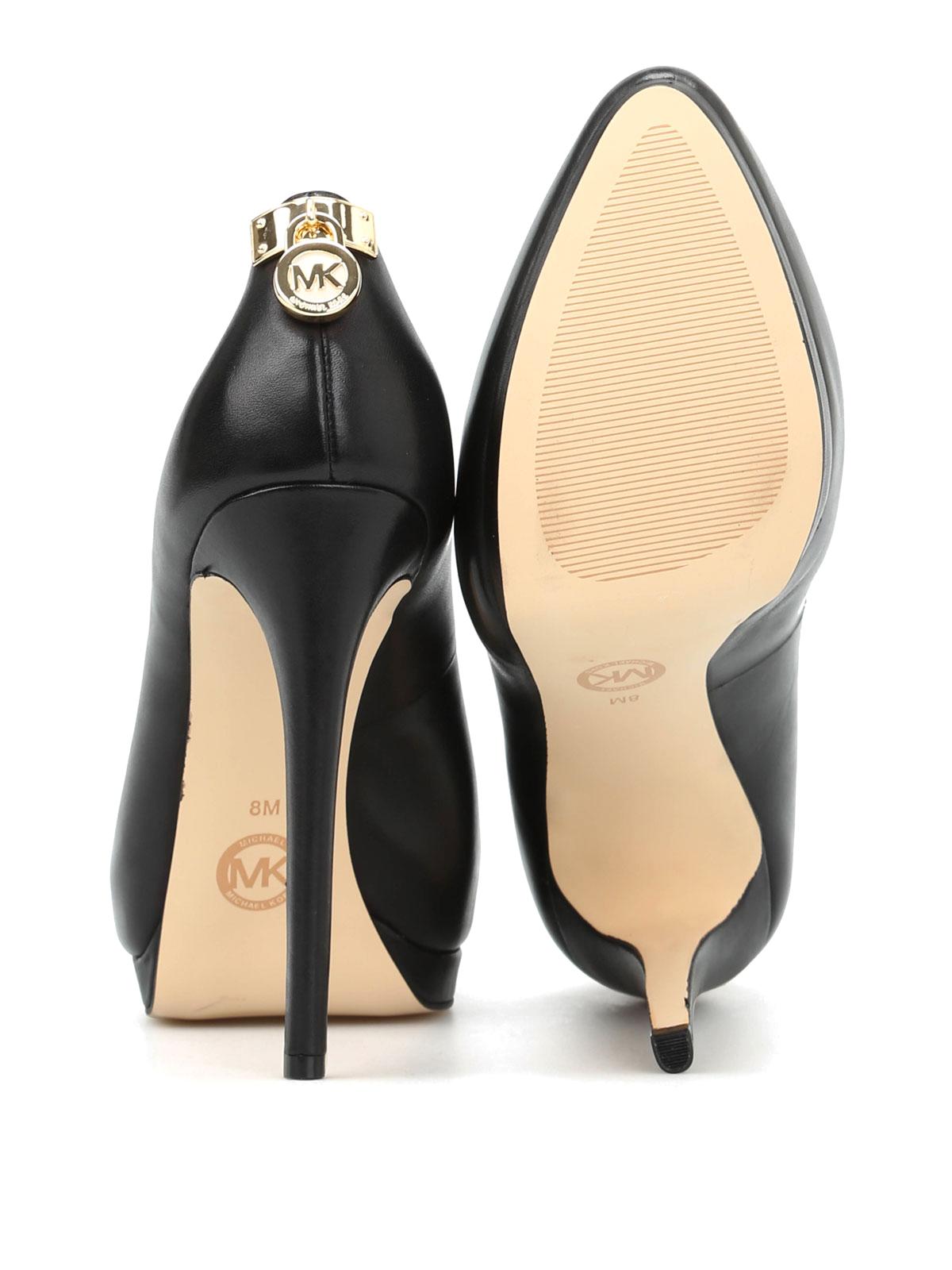 61b29d7ff707 Michael Kors - Hamilton leather pumps - court shoes - 40F4HAHP1L 001