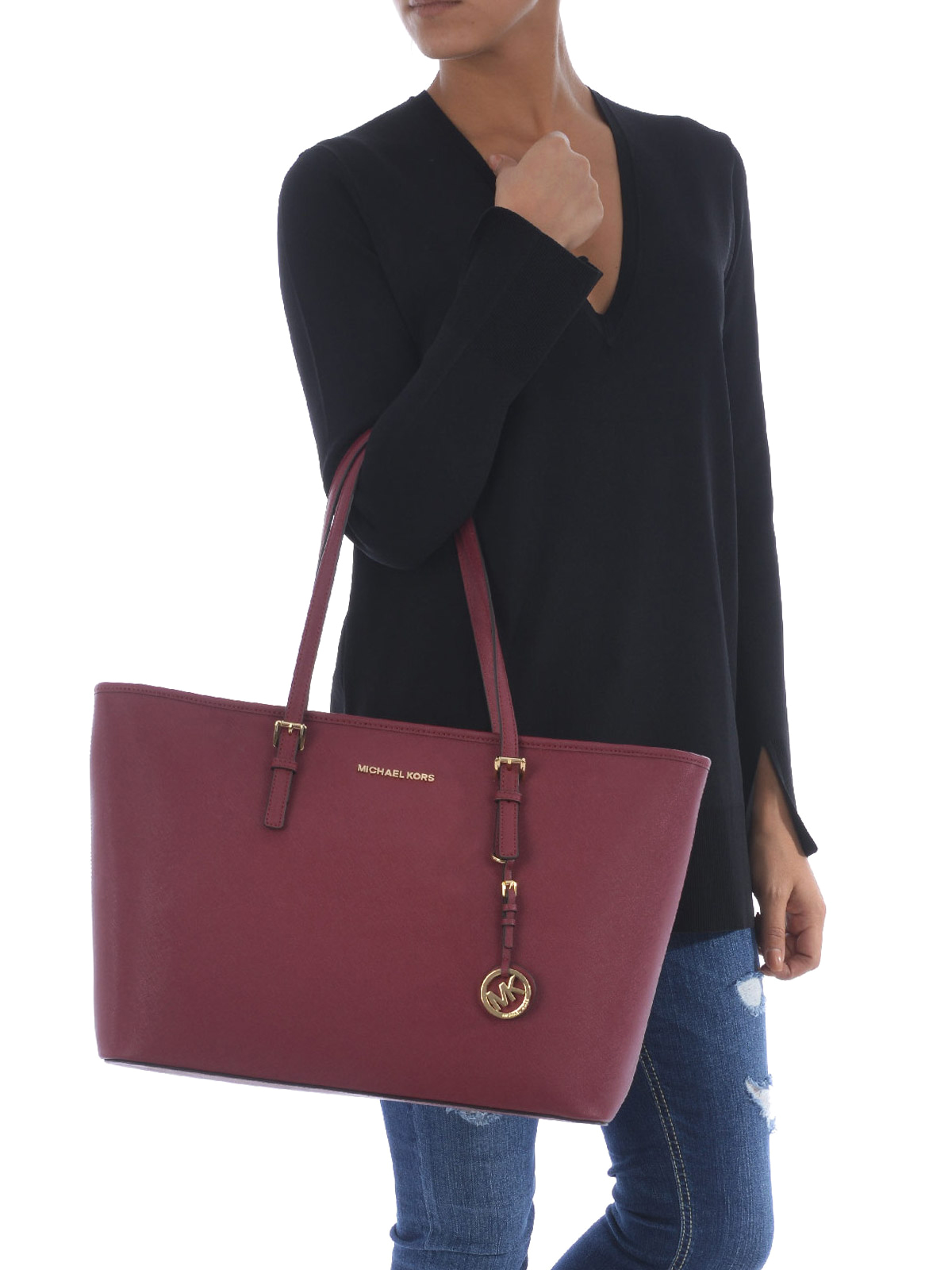 a990caa7dae1 Michael Kors - Jet Set Travel mulberry medium tote - totes bags ...
