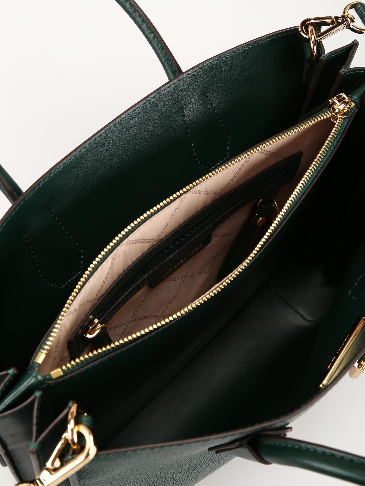 023b45468d73 Michael Kors - Mercer dark green accordion large tote - totes bags ...