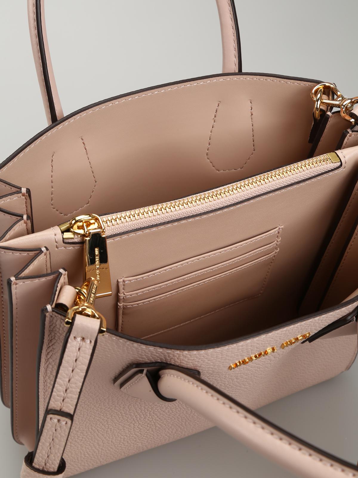 Mercer M Light Pink Leather Bag