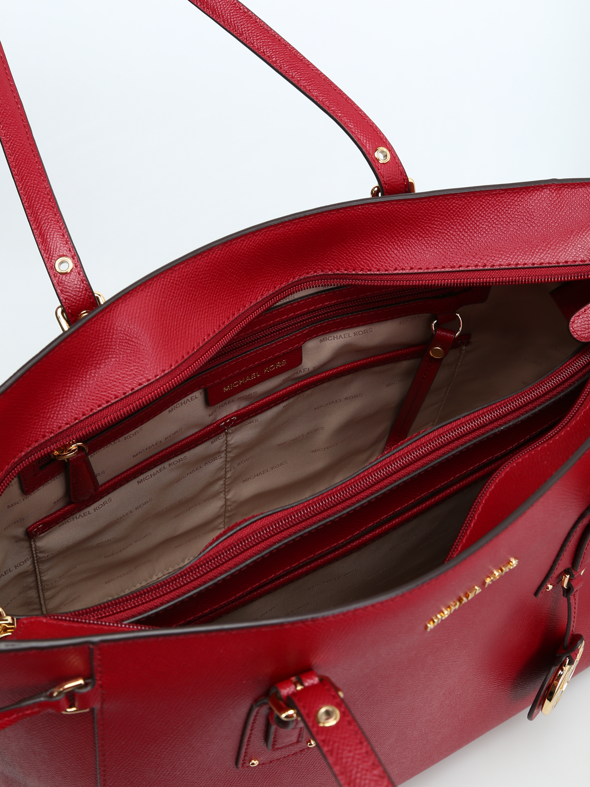 8220030f542101 Michael Kors - Voyager maroon leather medium tote - totes bags ...