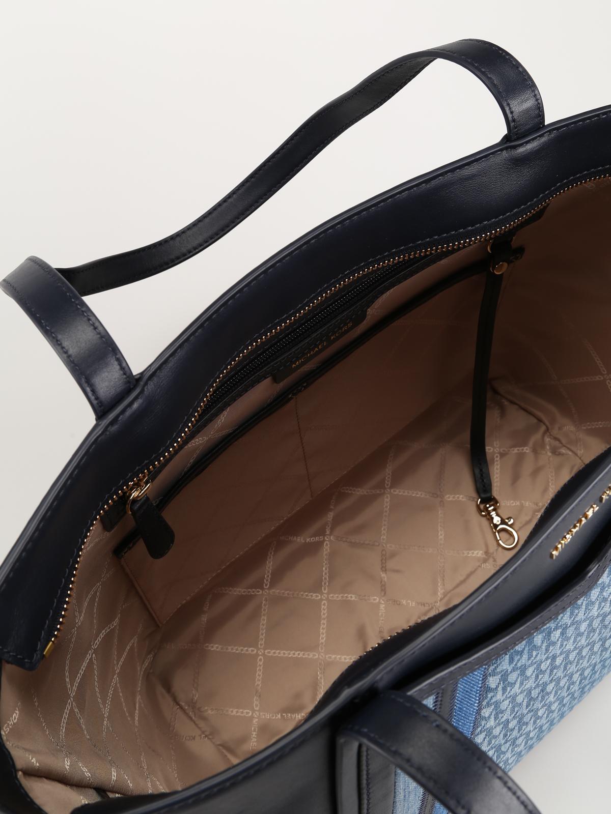 e895b1633d2e MICHAEL KORS buy online Whitney leather and denim large tote. MICHAEL KORS: totes  bags ...