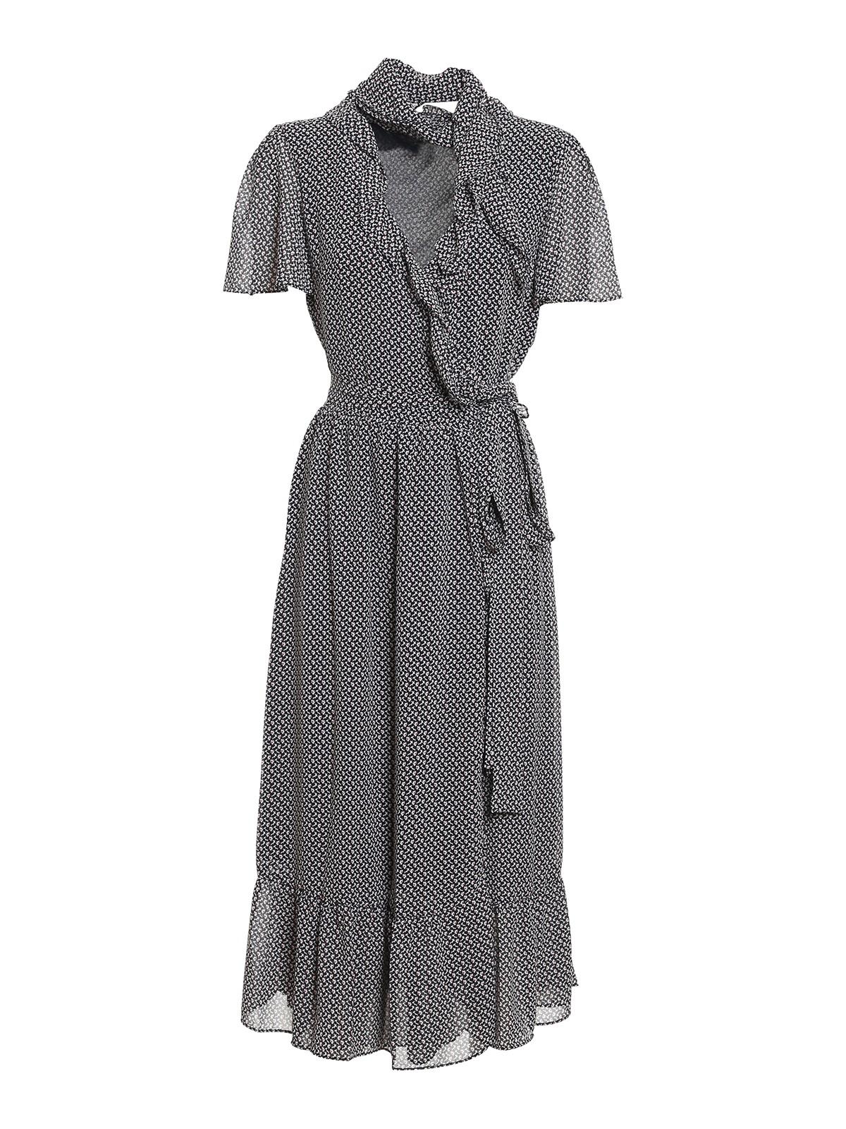 Michael Kors FLORAL PATTERNED CREPE DRESS