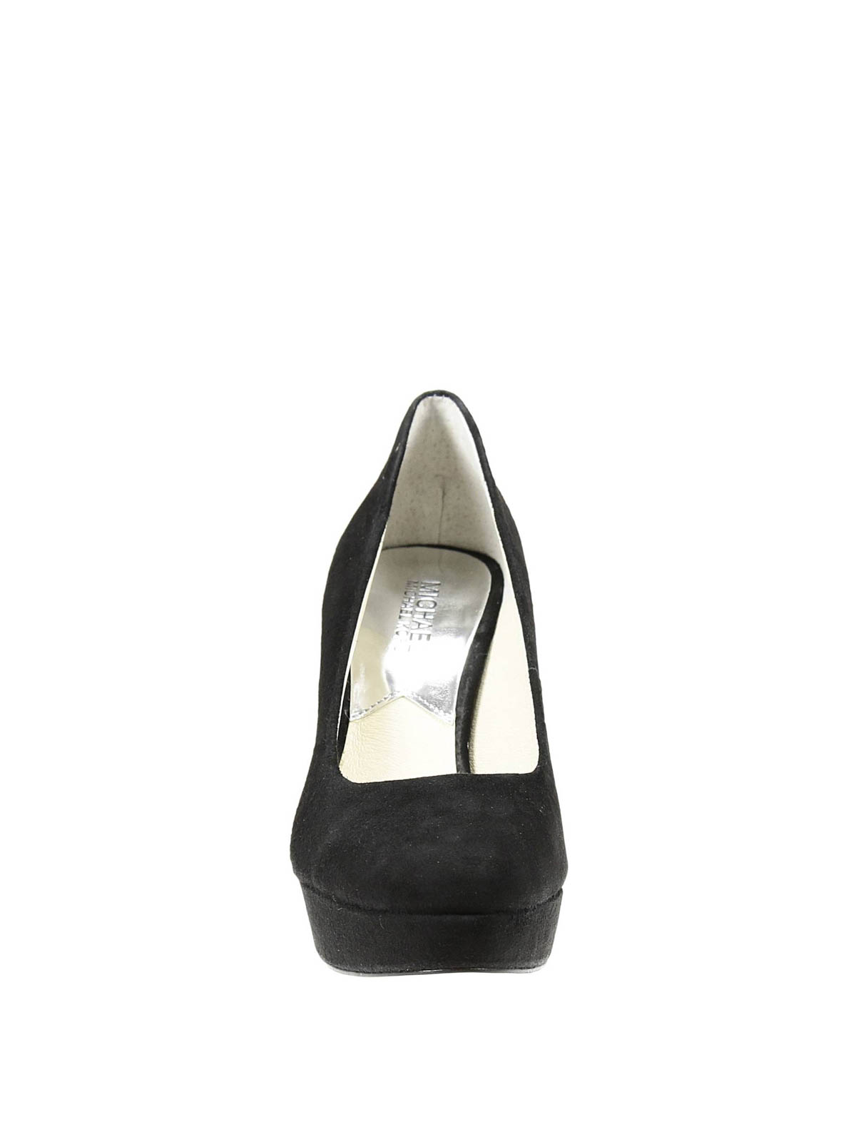 suede pumps with chain by michael kors court shoes ikrix. Black Bedroom Furniture Sets. Home Design Ideas