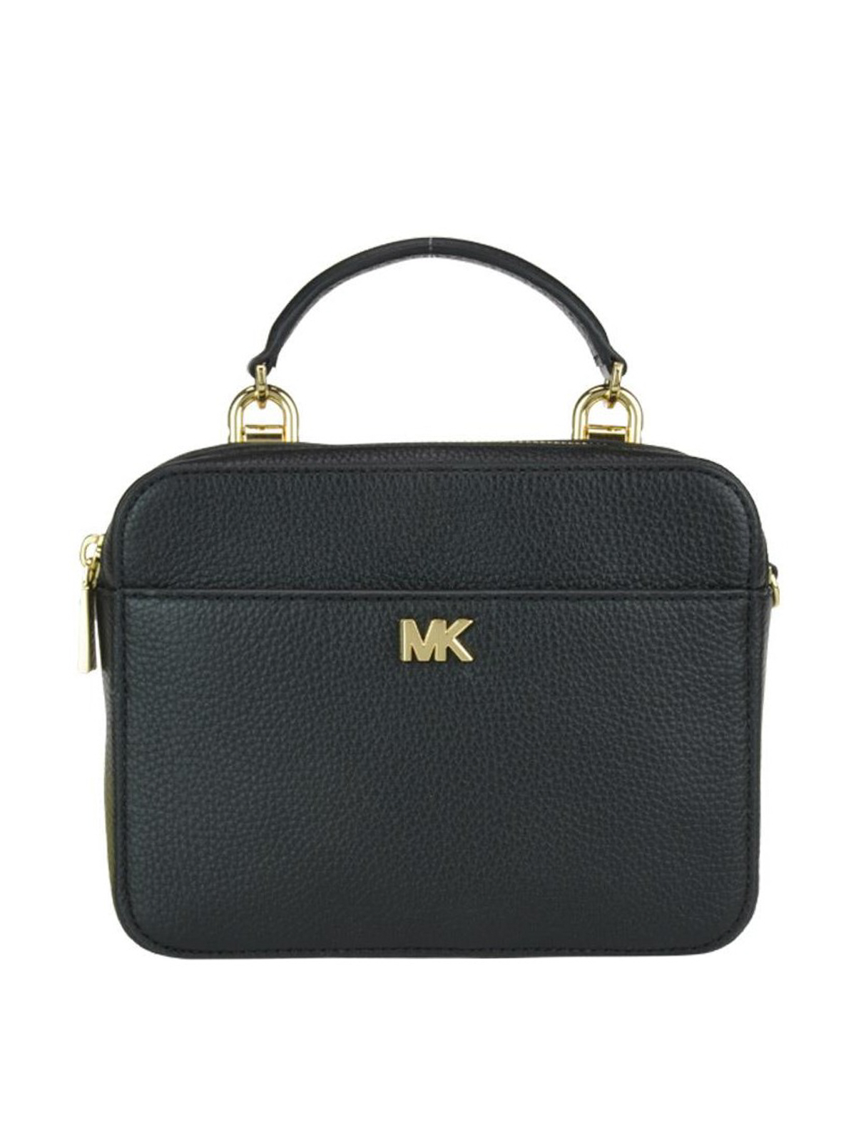 c0828dbc82eb MICHAEL KORS  cross body bags - Black grained leather briefcase style bag
