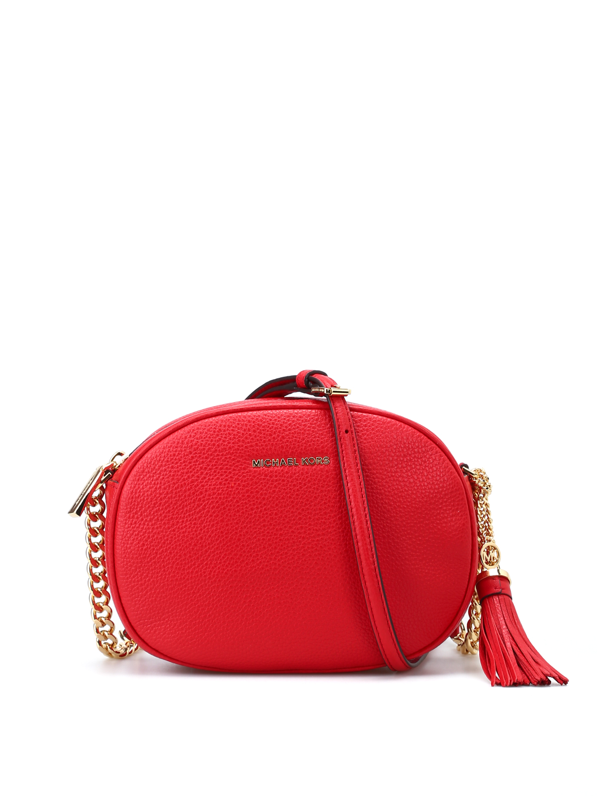 09a8e39195b9 Michael Kors - Ginny bright red leather crossbody - cross body bags ...