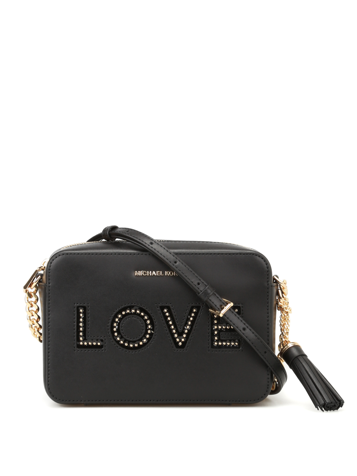 e402a28367d3 Michael Kors - Ginny Love black camera bag - cross body bags ...