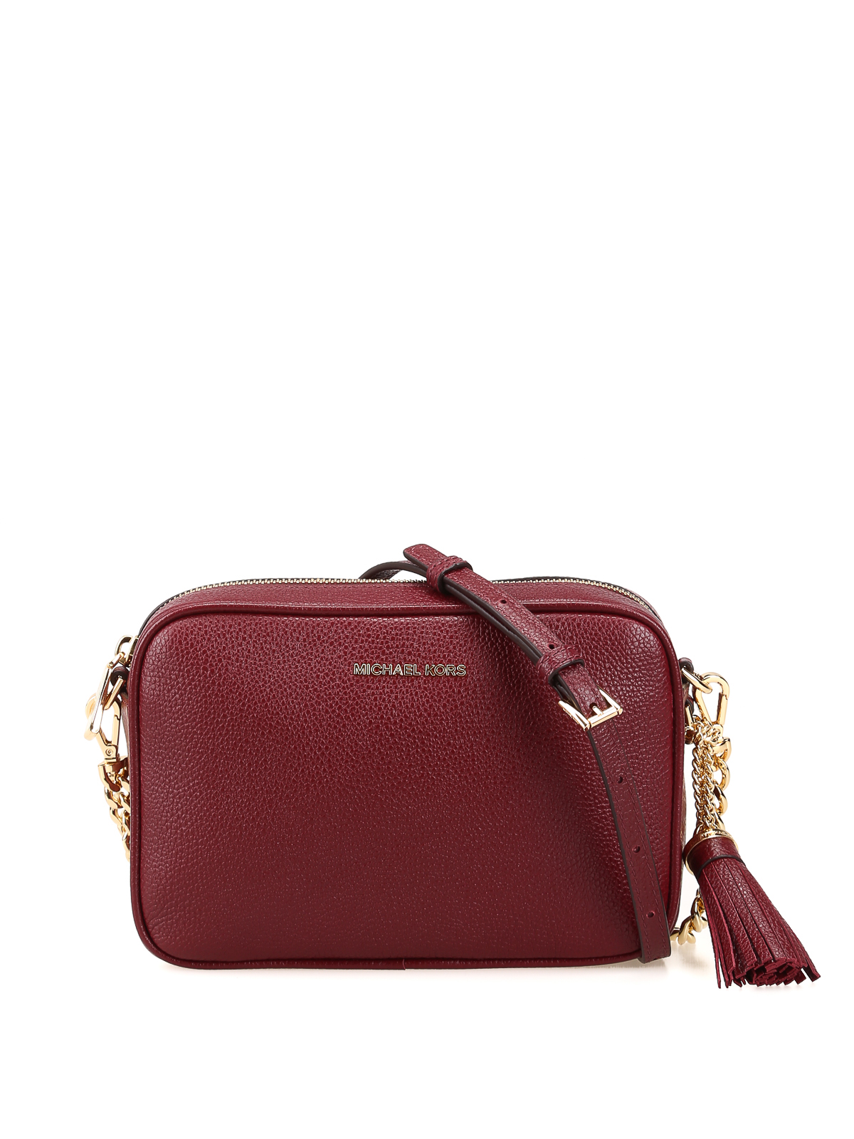 6d6f3274865333 Michael Kors - Ginny medium oxblood cross body bag - cross body bags ...