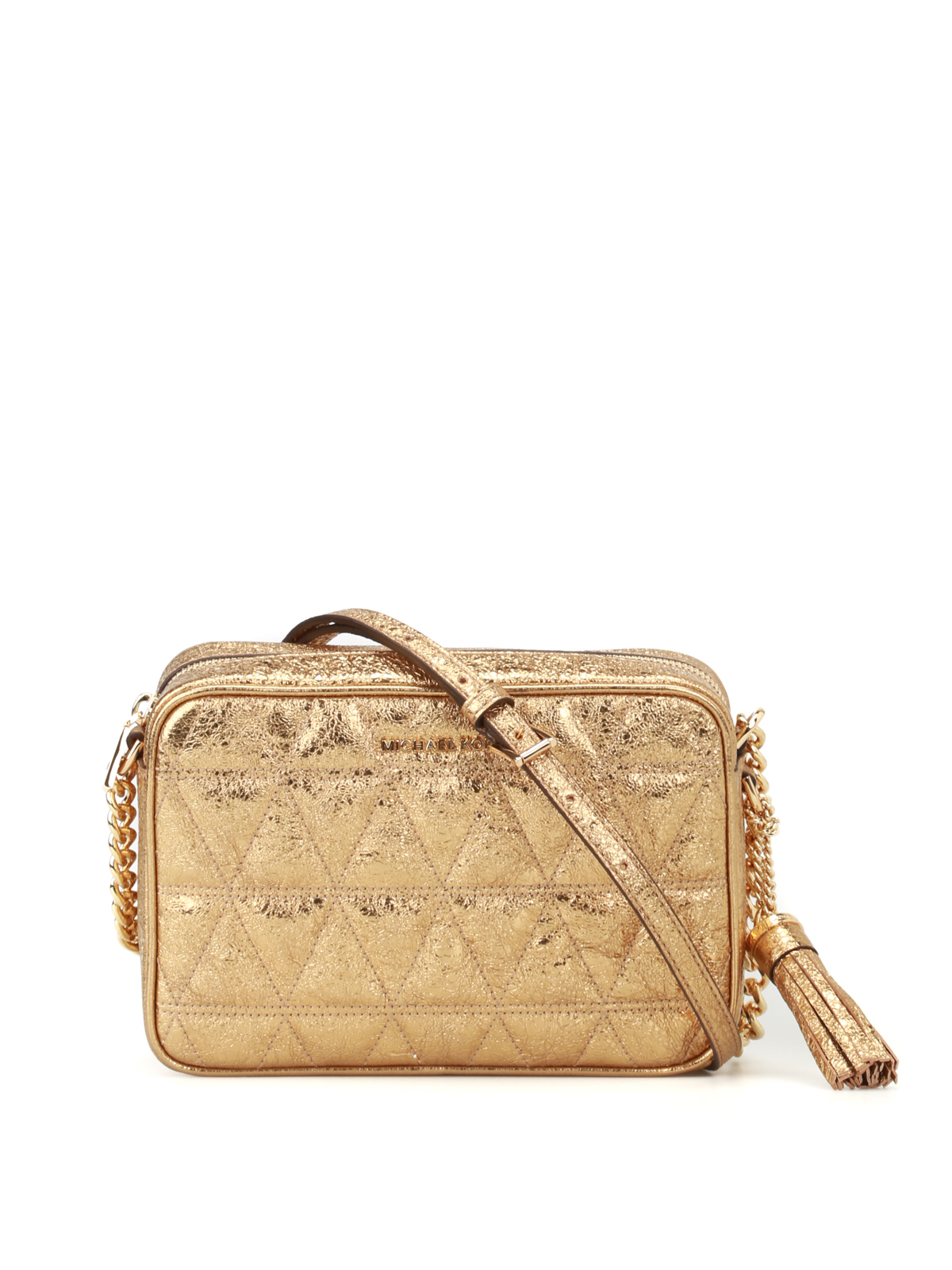 a20c3705e139 Michael Kors - Ginny quilted crackle camera bag - cross body bags ...