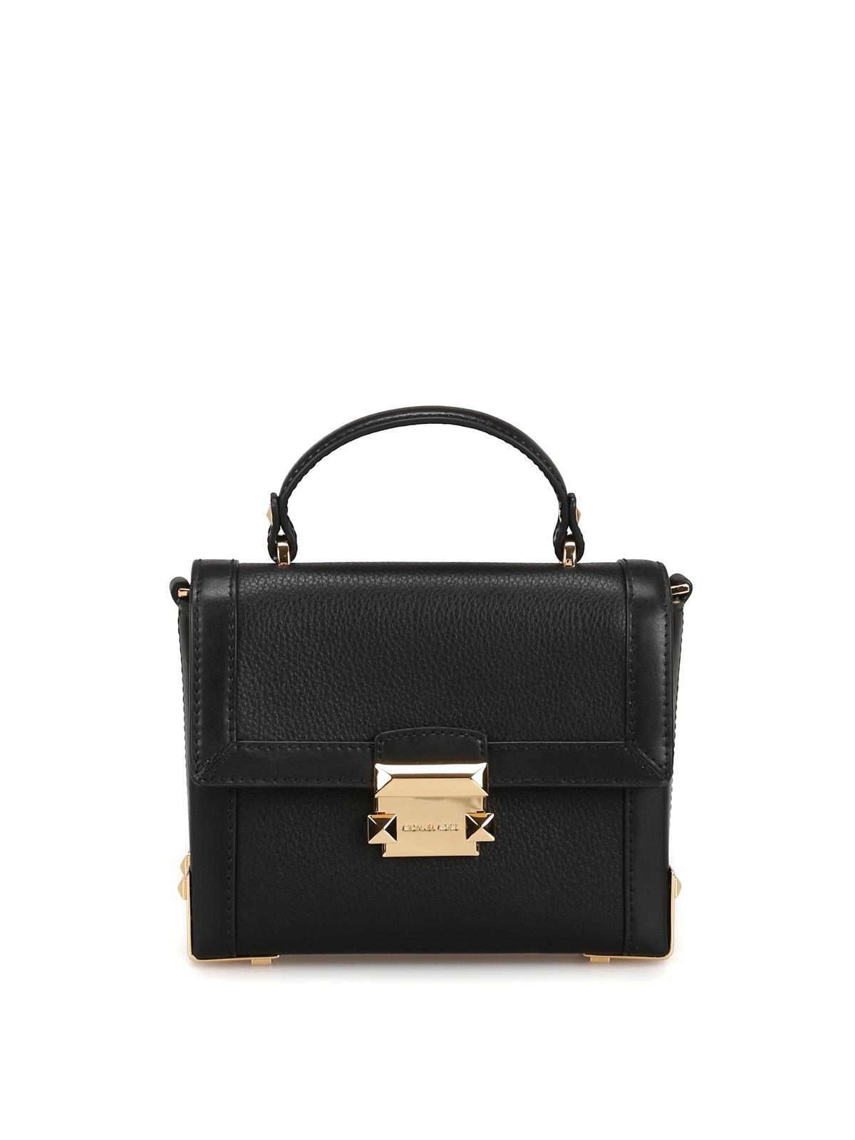 3f7d651a38e Michael Kors - Jayne black leather small trunk bag - cross body bags ...