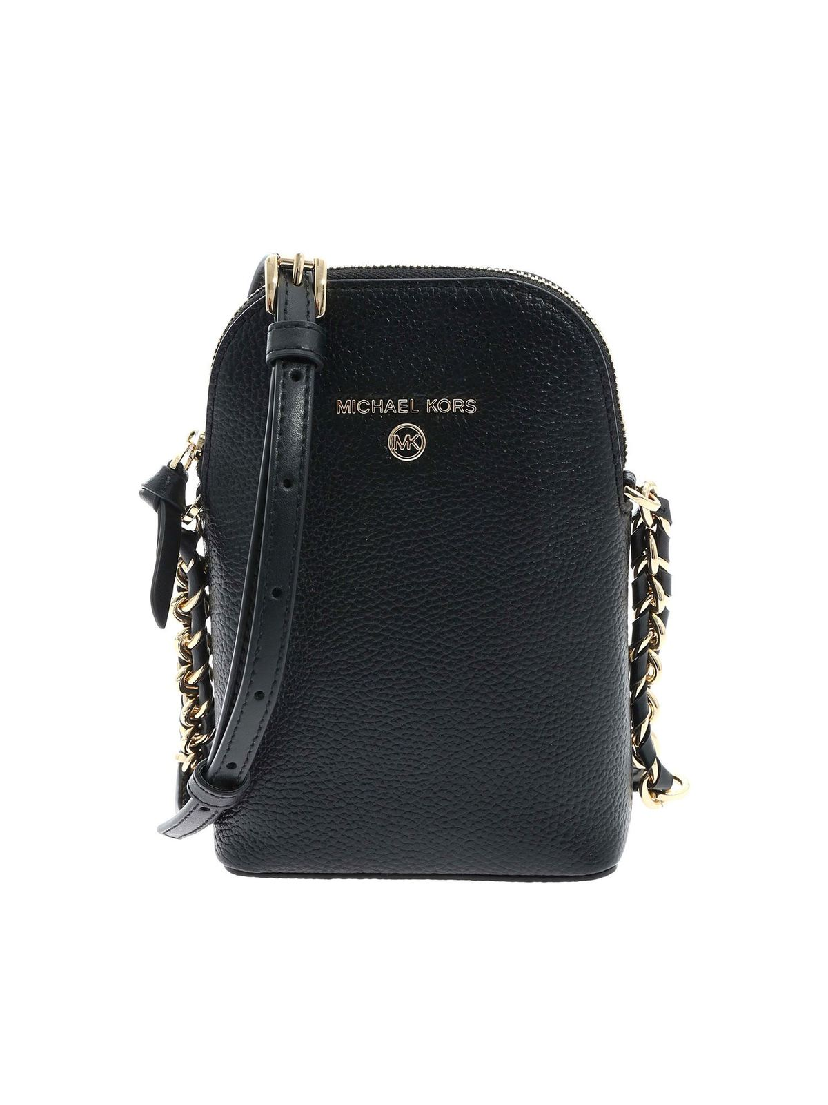 Michael Kors LEATHER SHOULDER BAG IN BLACK