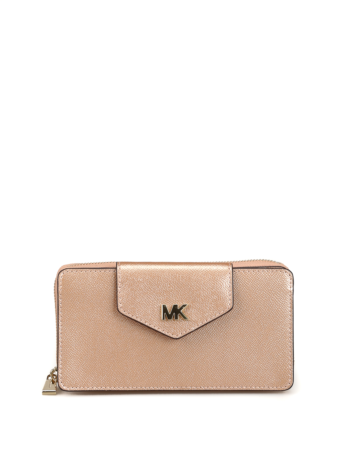 Michael Kors Pink metallic leather crossbody bag cross