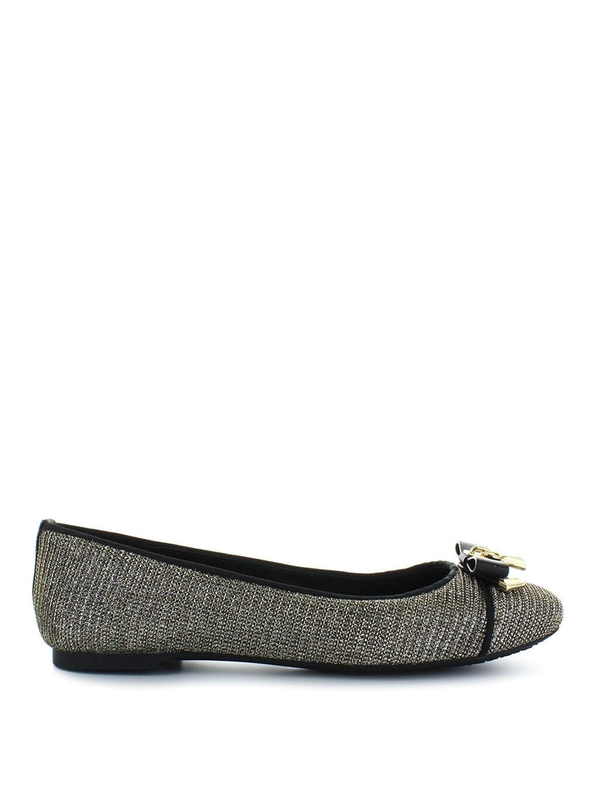 d46f2bc633ad MICHAEL KORS  flat shoes - Alice Ballet silver metallic fibre ballerinas