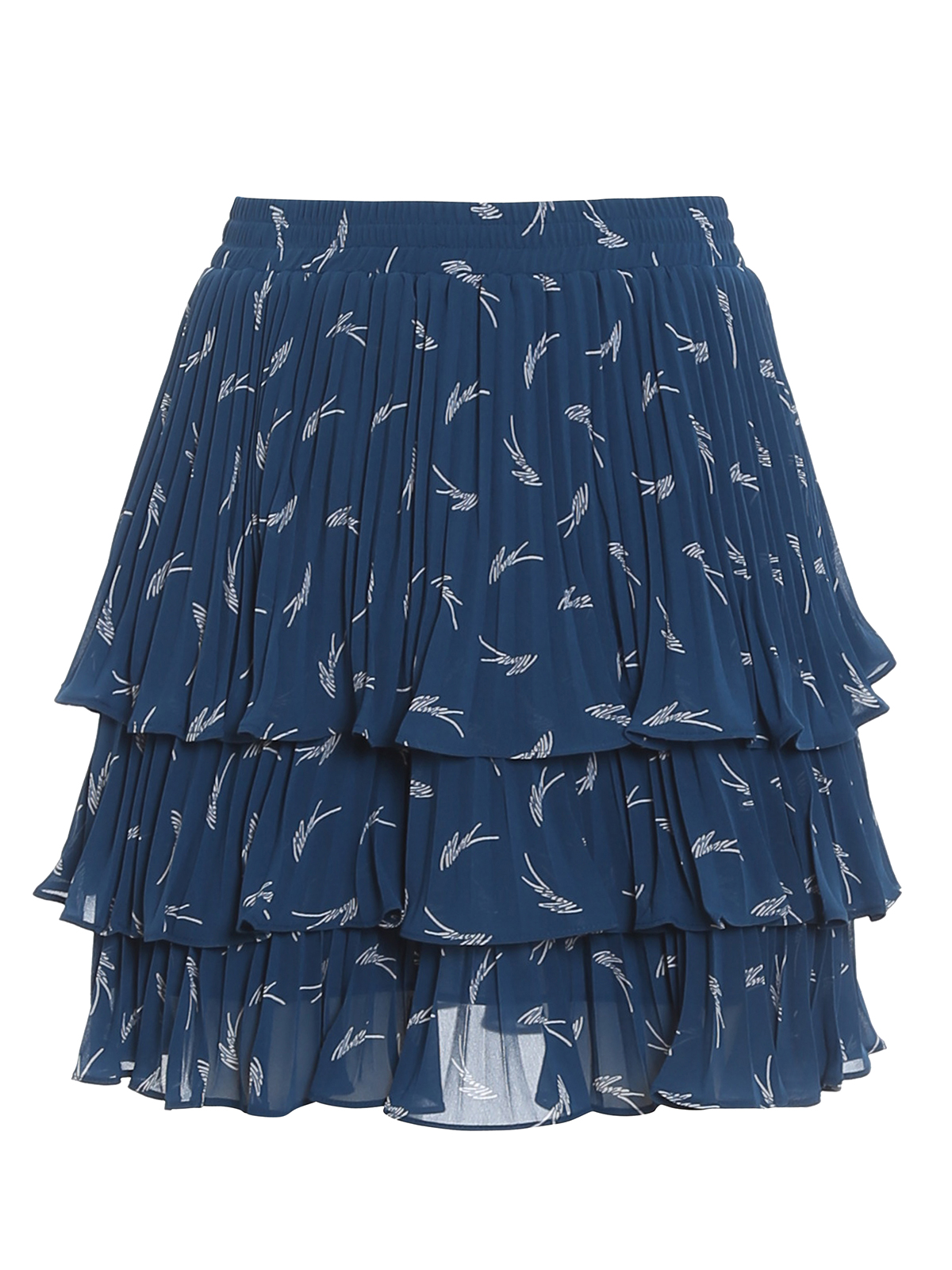 Michael Kors SIGNATURE LOGO RUFFLED SKIRT