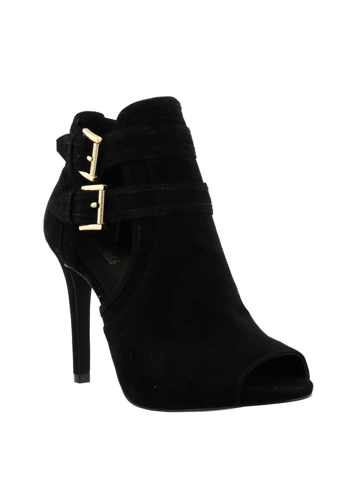 MICHAEL KORS  ankle boots online - Blaze open toe suede ankle boots b9a383c1672