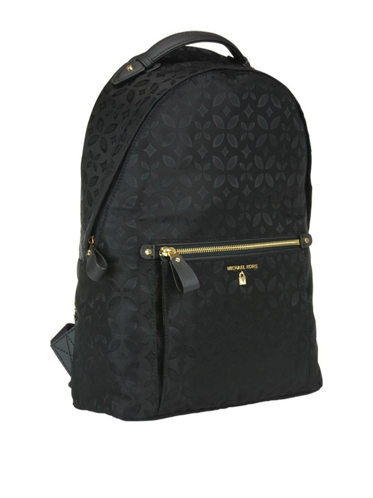 5e48a41f1500 MICHAEL KORS: backpacks online - Kelsey black floral nylon large backpack