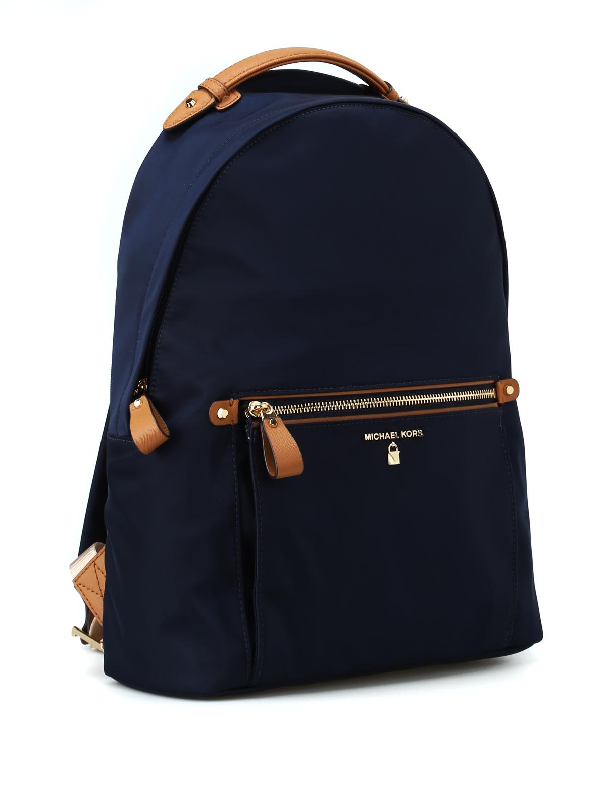 be3380dec37c MICHAEL KORS: backpacks online - Kelsey L navy blue nylon backpack
