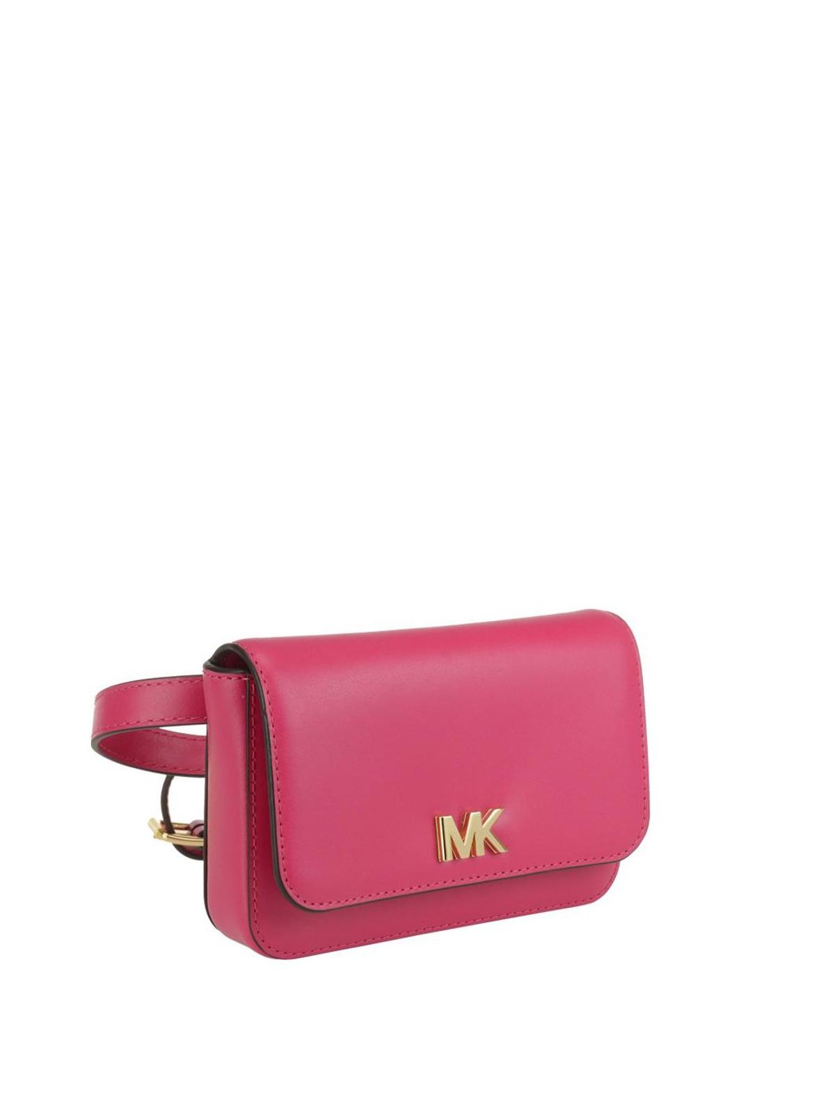 Michael Kors Marsupio Mott in pelle rosa scuro marsupi