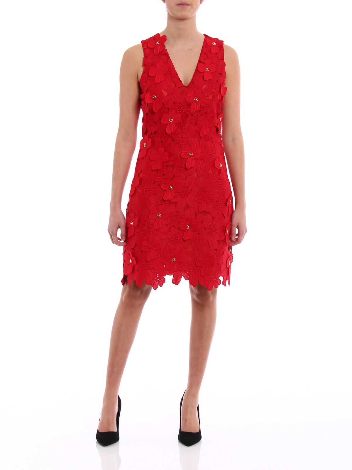 MICHAEL KORS  cocktail dresses online - Floral applique lace dress 2fd2793e4f