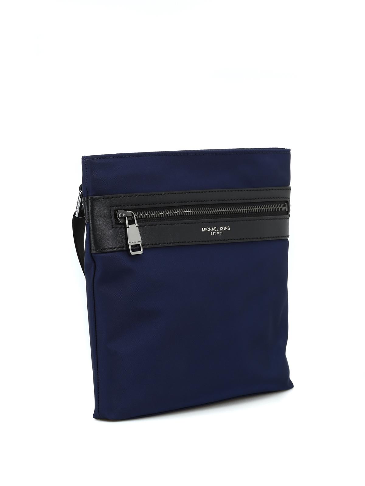 597c9a1e4619 Michael Kors - Blue Kent messenger bag - cross body bags - 33S6LKNC5C401