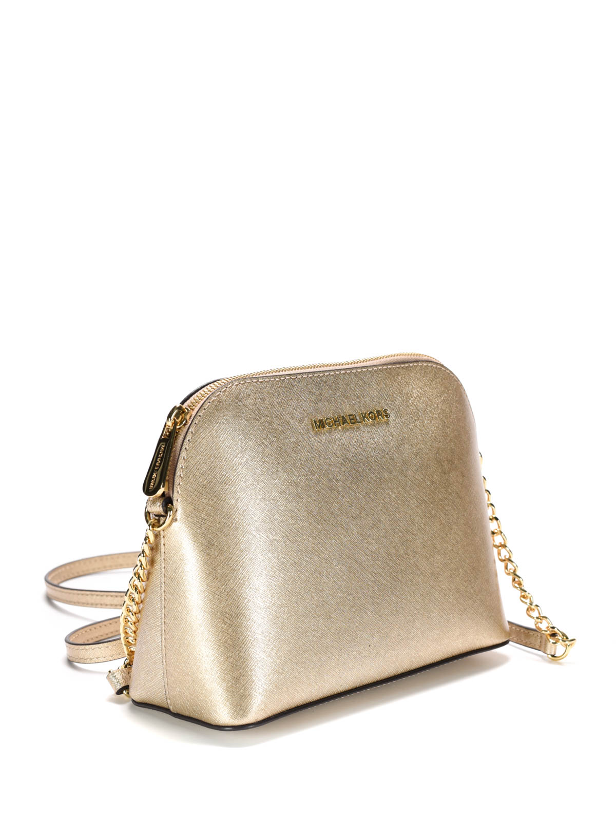 b53e692946217f MICHAEL KORS: cross body bags online - Cindy metallic Saffiano cross body