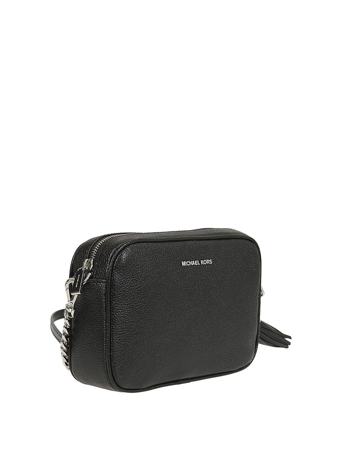 Michael Kors - Ginny black leather cross body bag - cross