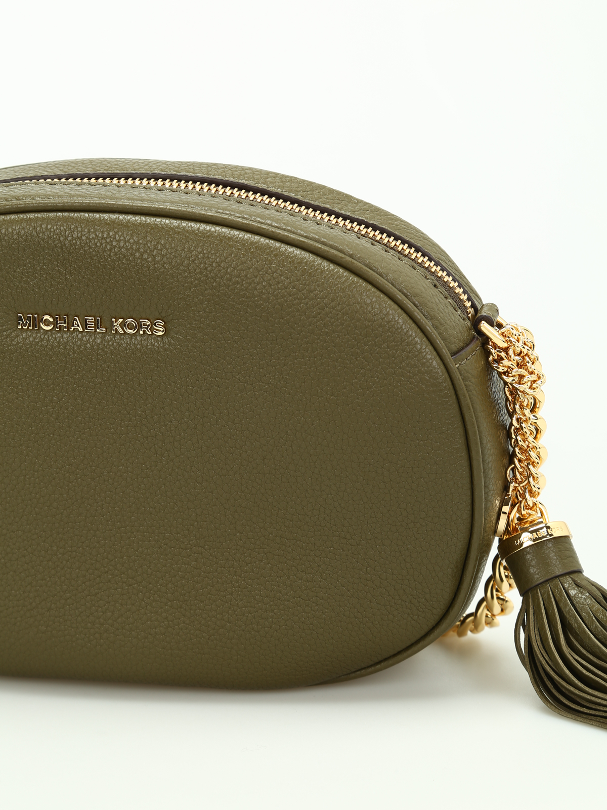 d56c8a0d4480eb MICHAEL KORS: cross body bags online - Ginny leather medium crossbody