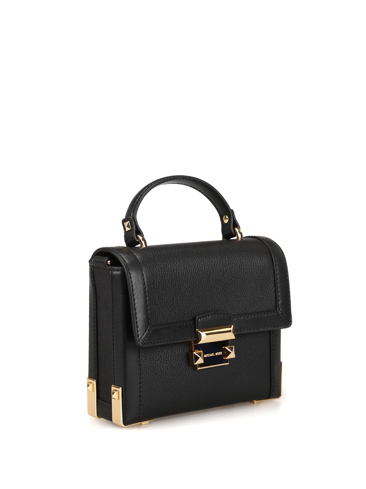 92edd88bf6f MICHAEL KORS: cross body bags online - Jayne black leather small trunk bag