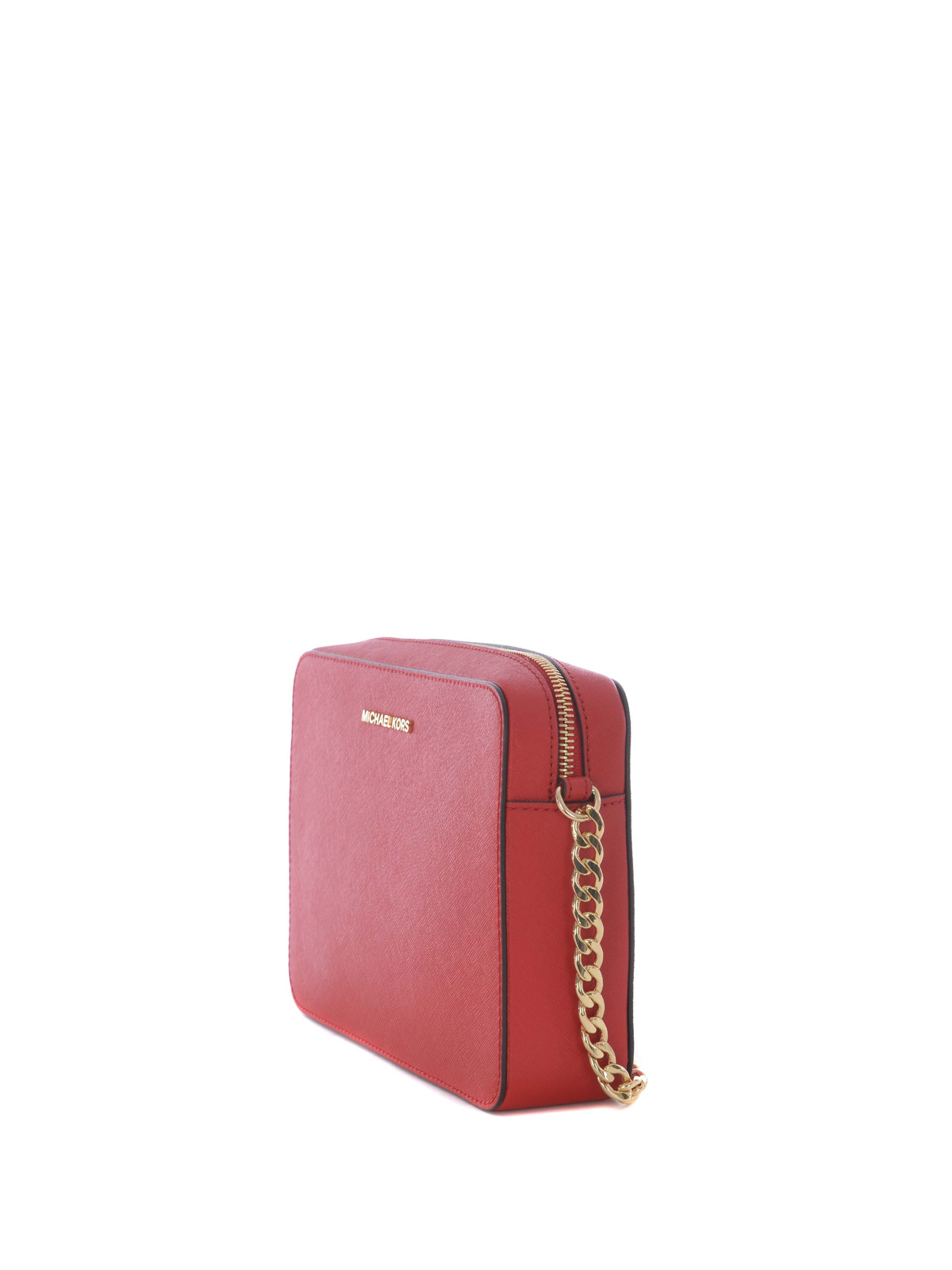 MICHAEL KORS  borse a tracolla online - Tracolla rossa Jet Set Travel large 93e4af6046f