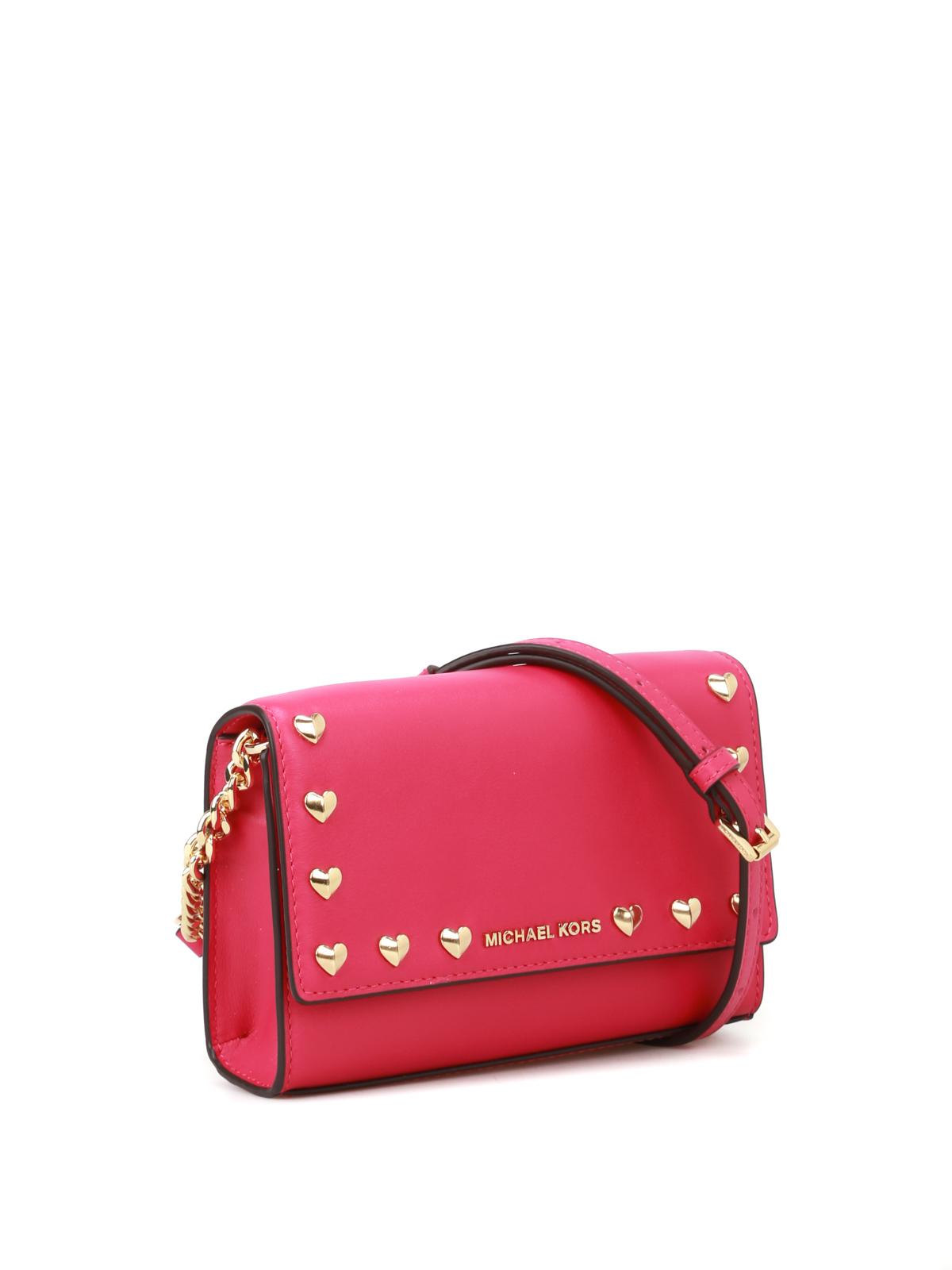 dad475997f54 MICHAEL KORS  cross body bags online - Ruby heart-studs fuchsia crossbody