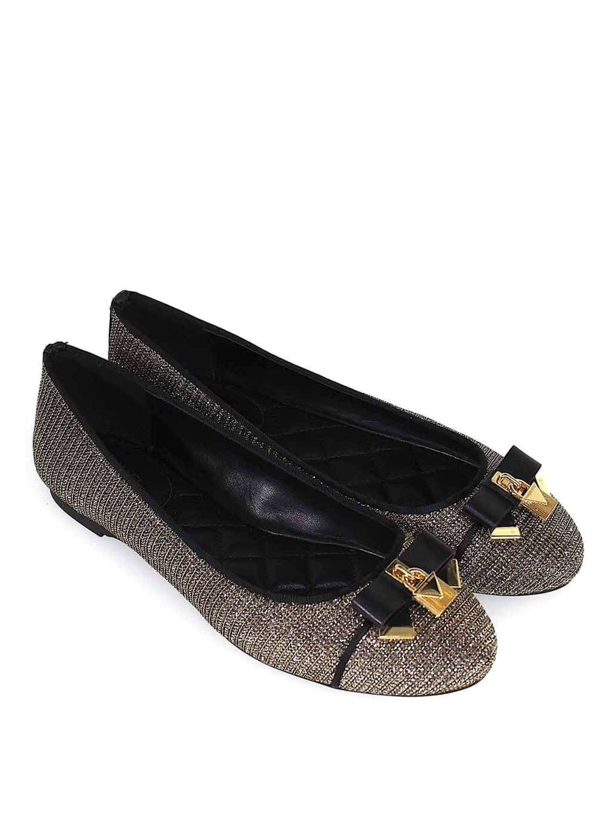 f93f17634cf4 MICHAEL KORS  flat shoes online - Alice Ballet silver metallic fibre  ballerinas