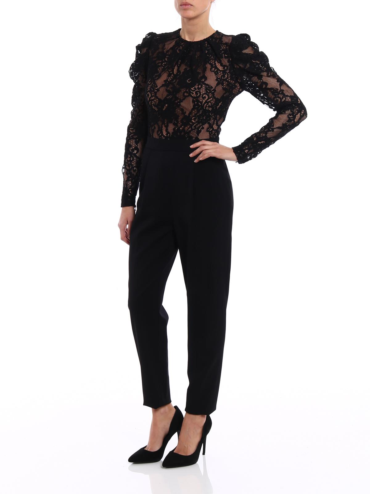 b27edf93a966 MICHAEL KORS  jumpsuits online - Floral lace long sleeve jumpsuit