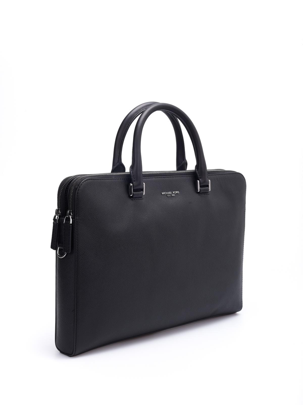 Michael Kors - Leather briefcase - Sacs ordinateur & Mallettes ...