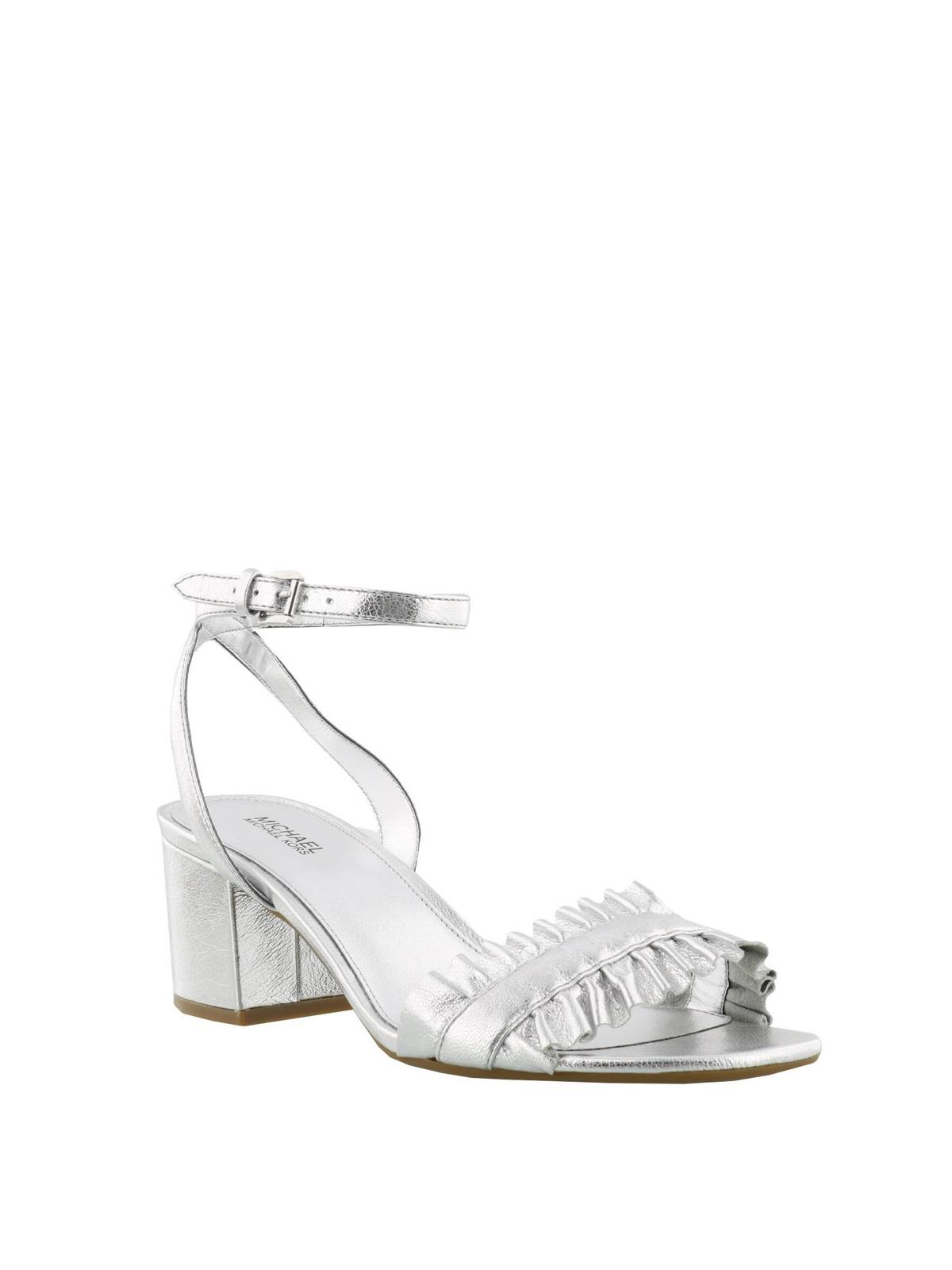 347262a2c6b89 Michael Kors - Bella flex mid silver sandals - sandals - 40S8BLMA1M 040