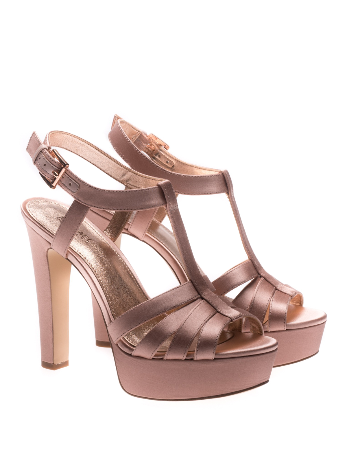 f1fcbff728c MICHAEL KORS  sandals online - Catalina satin high heel sandals