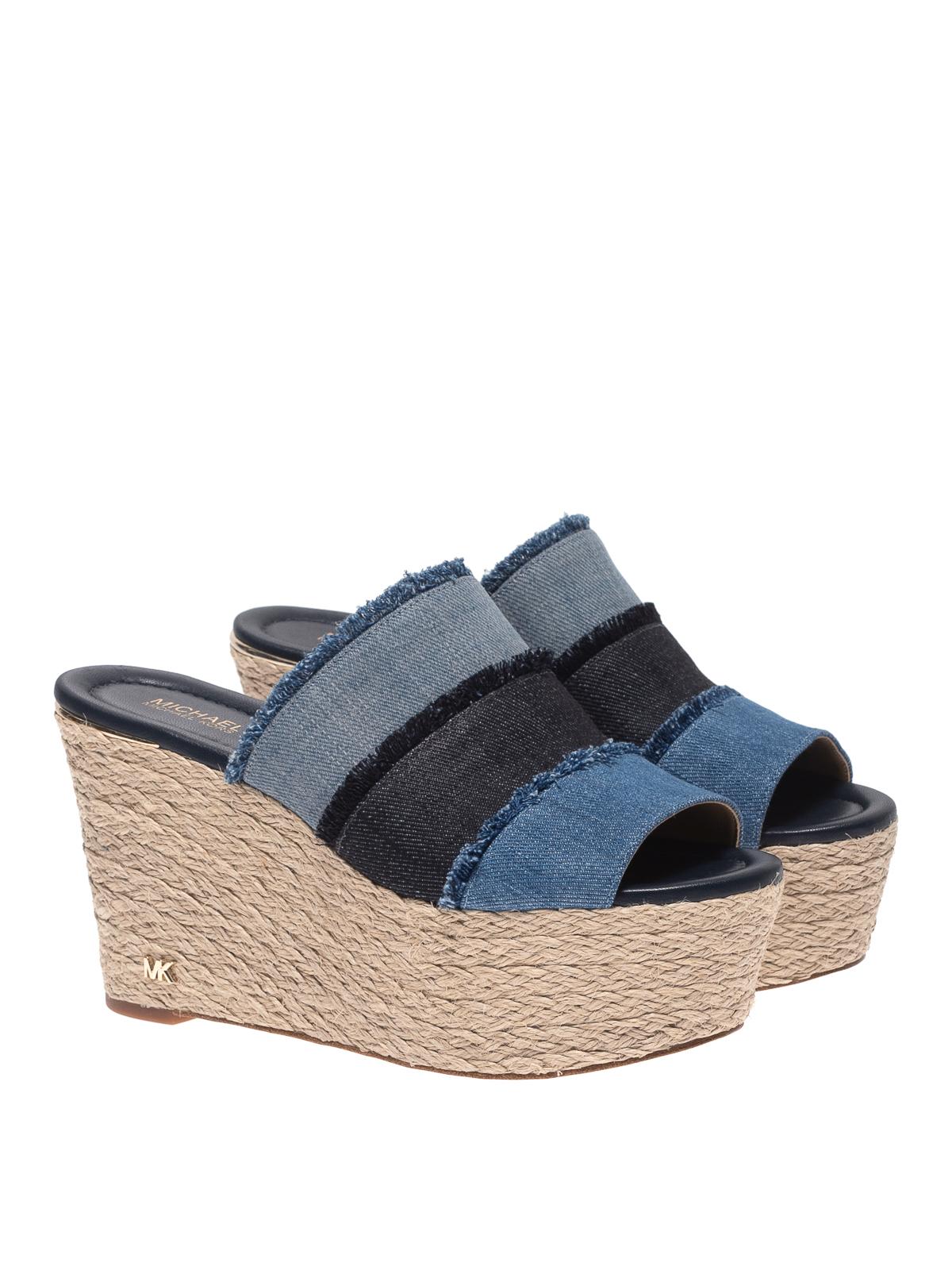 Michael Kors - Denim wedge sandals