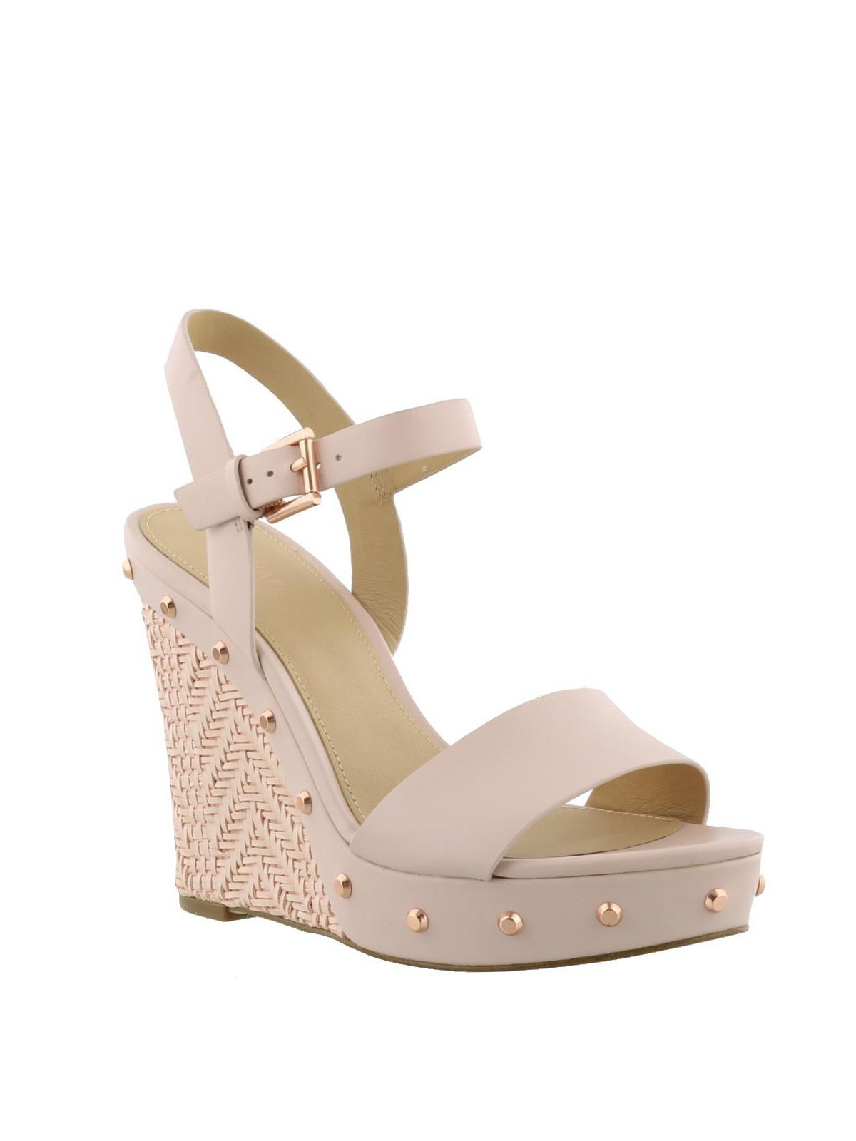39702a3d12a MICHAEL KORS  sandals online - Ellen pink leather wedge sandals