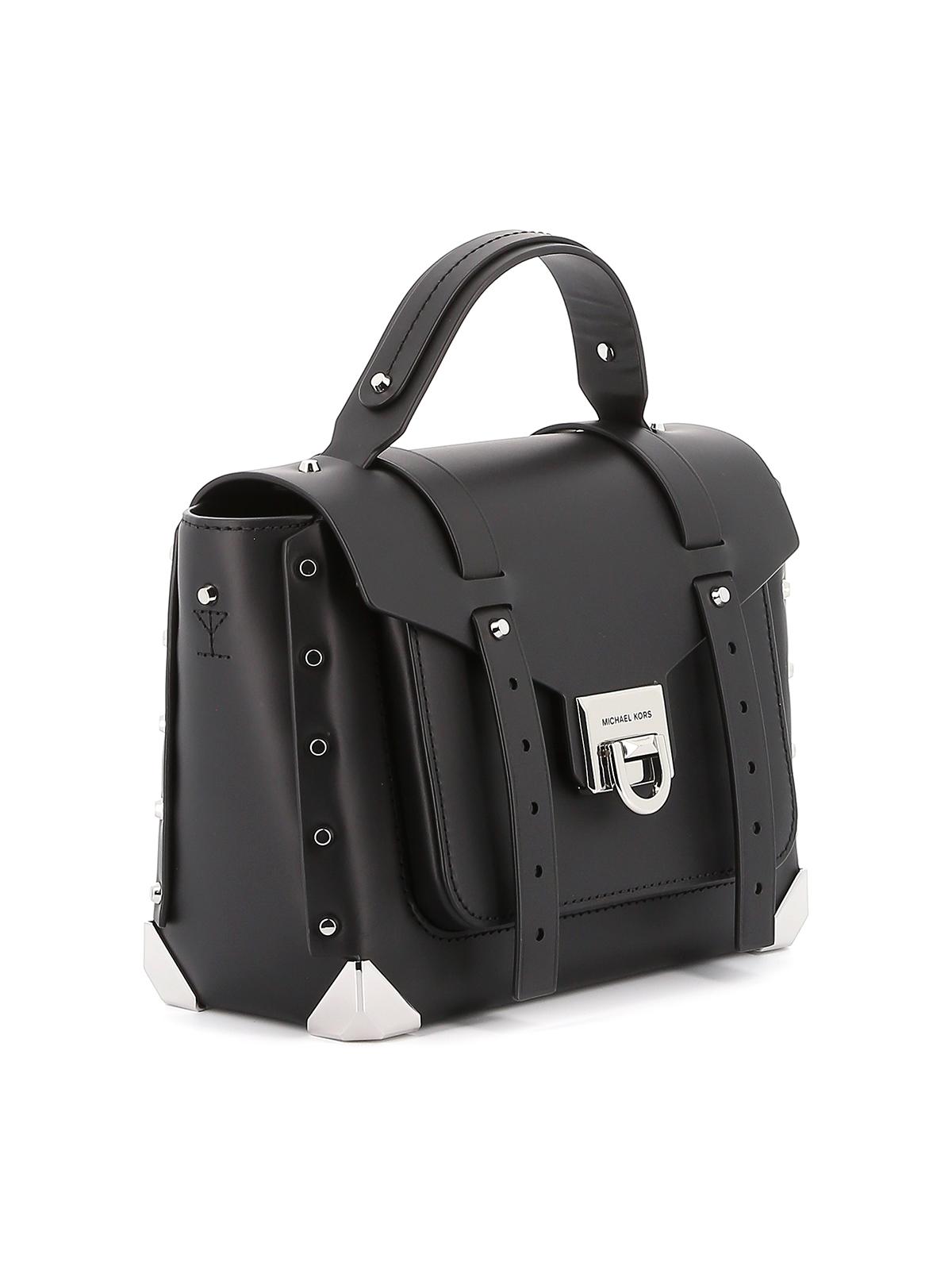 Manhattan medium black satchel bag