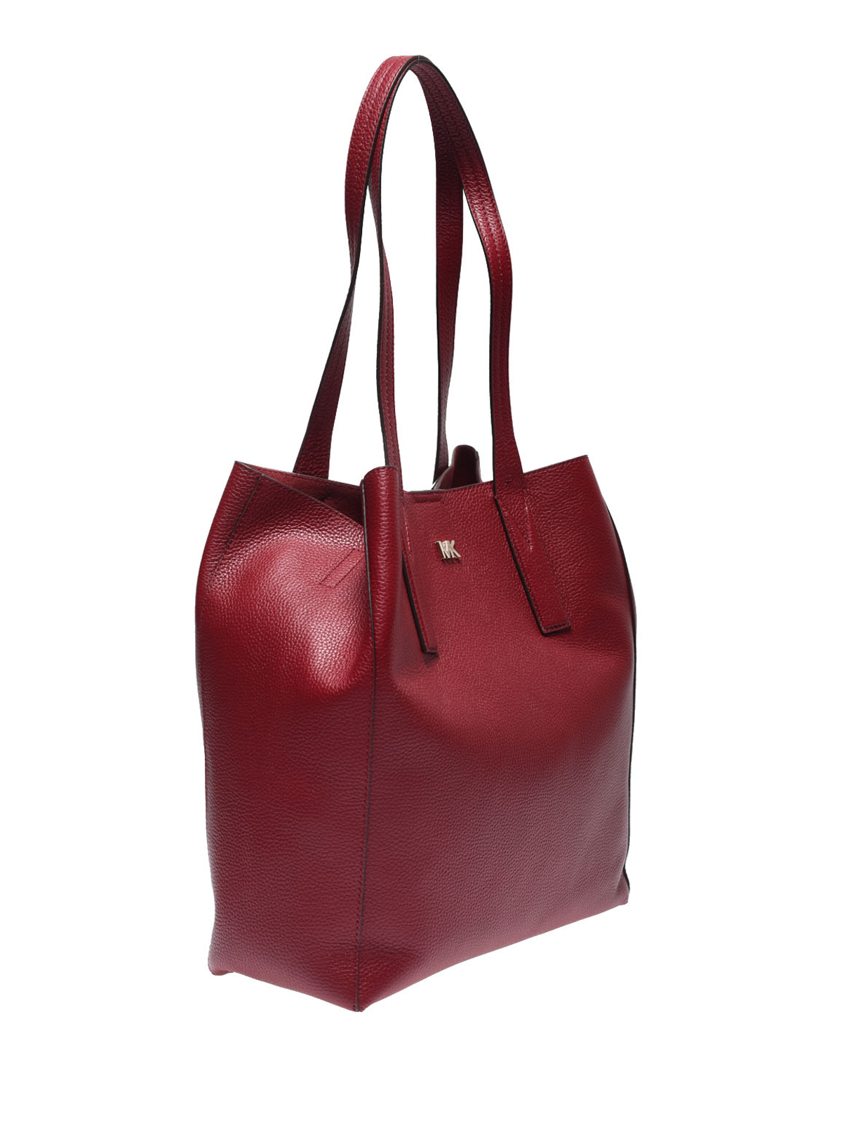5284e8e095dace MICHAEL KORS: totes bags online - Junie maroon leather large tote