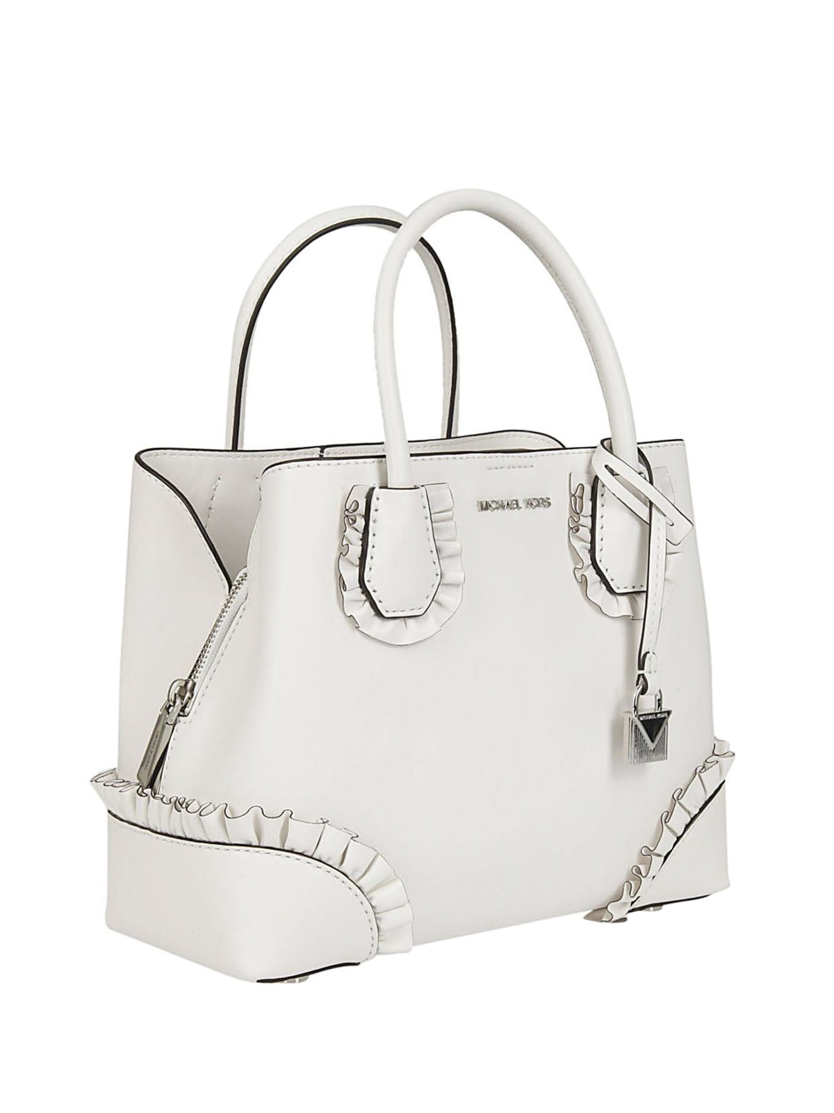 michael kors mercer gallery small white bag totes bags. Black Bedroom Furniture Sets. Home Design Ideas