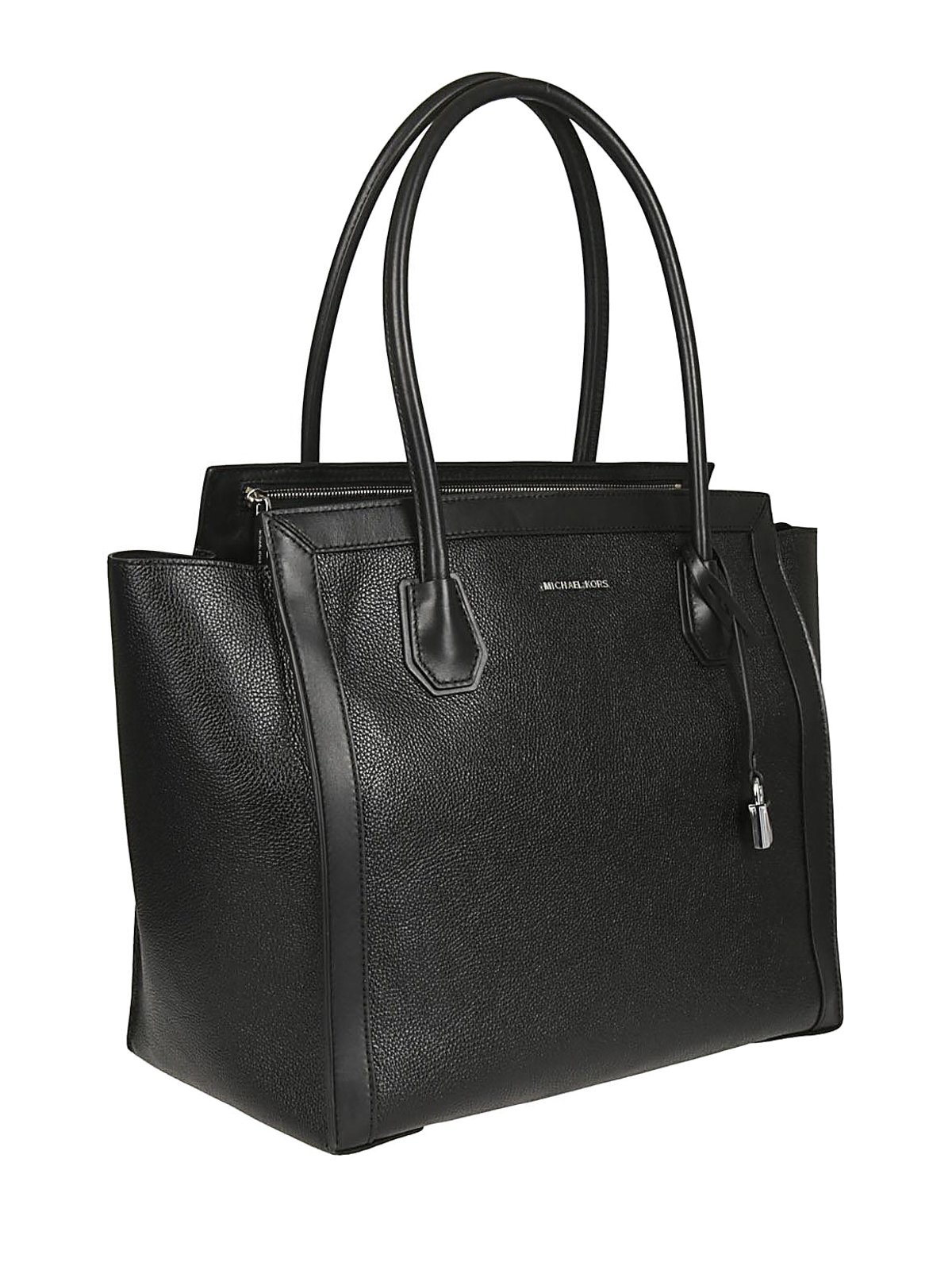 95a95b3fc885 MICHAEL KORS: totes bags online - Mercer Studio L black leather tote