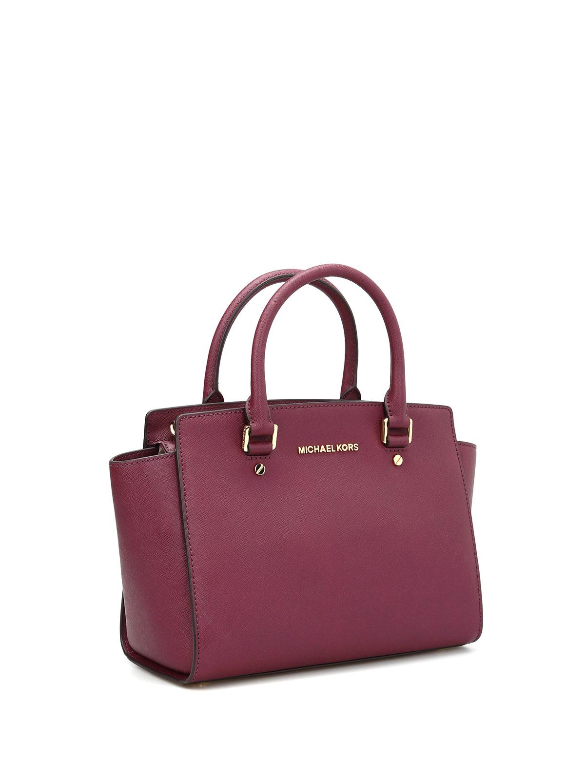 b251d3618359 MICHAEL KORS  totes bags online - Selma Medium saffiano top zip tote