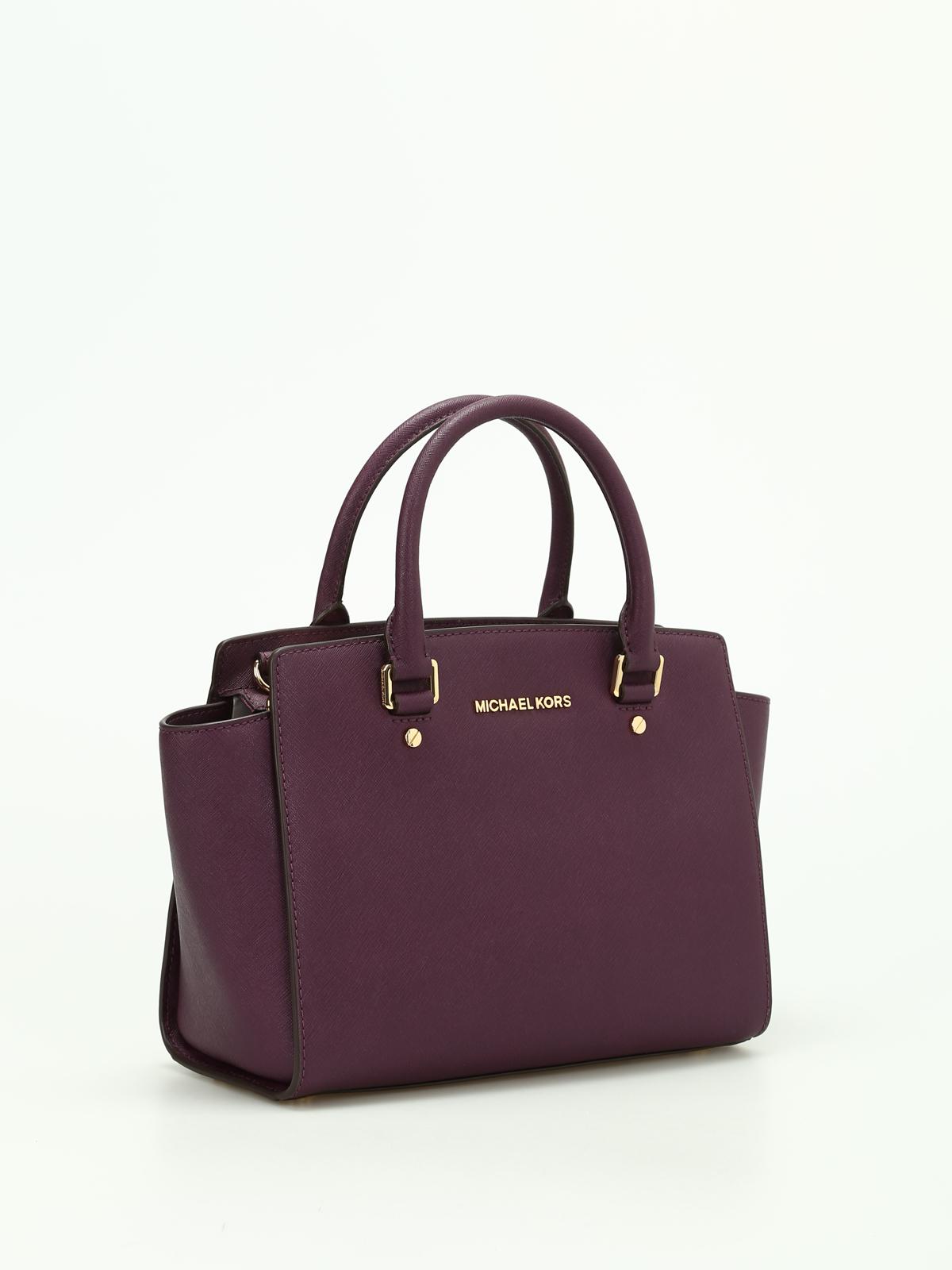 Michael Kors - Selma medium saffiano top zip tote - totes bags ...