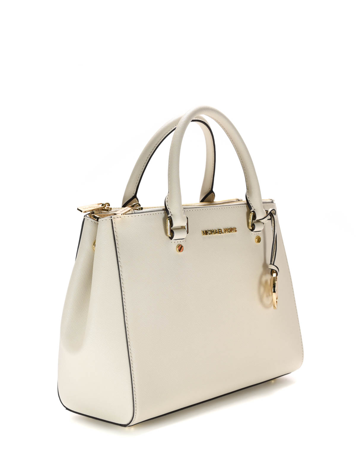 d94191094f32 MICHAEL KORS: totes bags online - Sutton Saffiano leather large tote