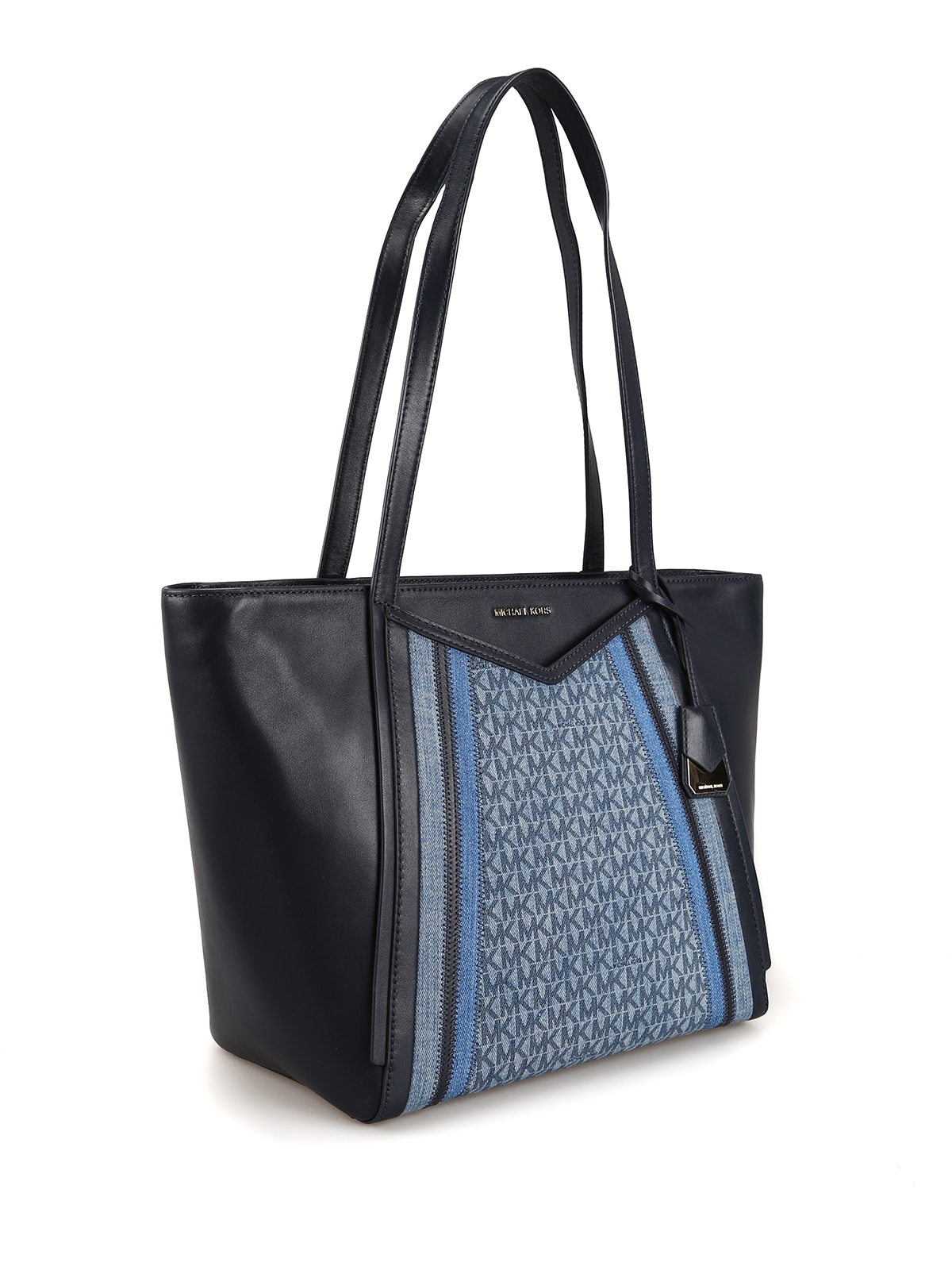 d64a07335b59 MICHAEL KORS: totes bags online - Whitney leather and denim large tote