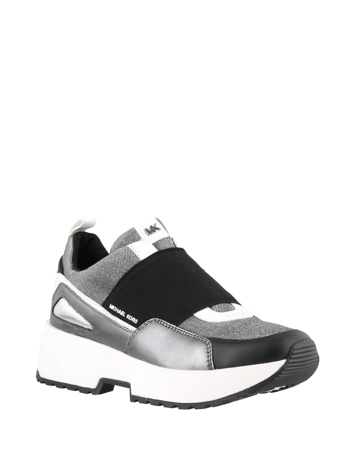 Michael Kors Cosmo silver slip on sneakers trainers