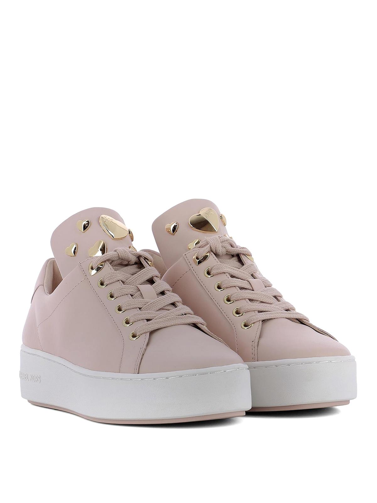 pink michael kors tennis shoes