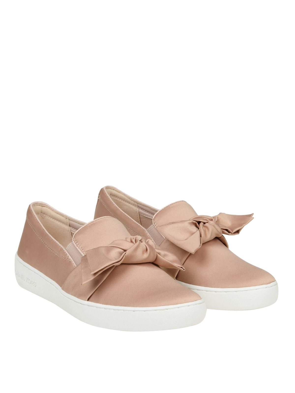 8735c37bc8e8 Michael Kors - Willa pink satin slip-ons - trainers - 43R8WIFP1D 187